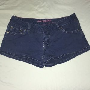 Blue denim American Eagle shorts size 8